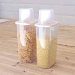 포켓 잡곡통 1500ml+1500ml 2P세트 쌀통 씨리얼통