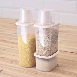 포켓 잡곡통 500+1000+1500ml 3P세트 쌀통 씨리얼통