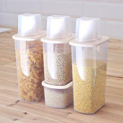포켓 잡곡통 500+1000+1500ml2 4P세트 쌀통 씨리얼통