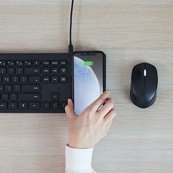 파우트 무선충전식 무선키보드 마우스 세트 HANDS5 COMBO