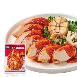 [무료배송] 슬라이스 소스 닭가슴살 로스트핫바베큐 150gx10팩(1.5kg)