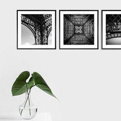 파리 에펠탑 사진 액자 3P세트 - Metal프레임