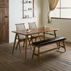 메이 원목 4인용 6인용 다이닝 식탁 세트(의자2개+벤치1개)