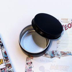 갓샵 원형 틴케이스 블랙 80ml 6.8x3.5cm