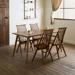 메이 원목 4인용 6인용 다이닝 식탁 세트(의자4개)