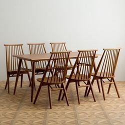 메이 원목 4인용 6인용 다이닝 식탁 세트(의자6개)