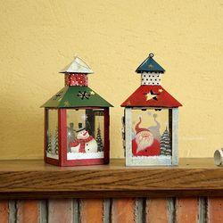 산타와 눈사람 하우스 캔들홀더