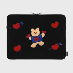 [예약판매 4/17 순차배송] Bear heart-15inch notebook pouch(15inch)