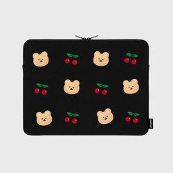 Dot cherry bear-13인치 노트북 파우치