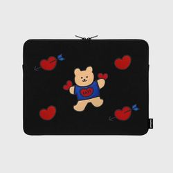 Bear heart-13inch notebook pouch(13inch 노트북 파우치)