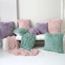 다우니 fur 쿠션-3color-45사이즈(솜포함)