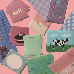 soft vintage muse mood sticker pack