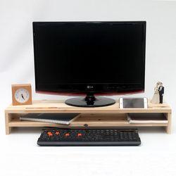 WD1009 원목 모니터 받침대 와이드 800 2단