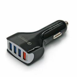 QC3.0 4포트 차량용 급속 충전기 USB 시거잭 어댑터