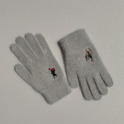 Christmas in joseon gloves (wool)(grey)