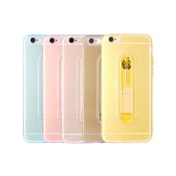 아이폰5 컬러 클리어 스탠드 슬림 젤리 케이스 P380