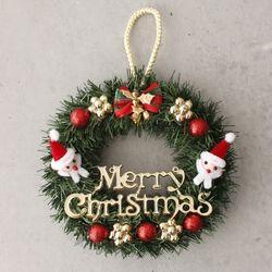 크리스마스 산타 리스 - 20cm