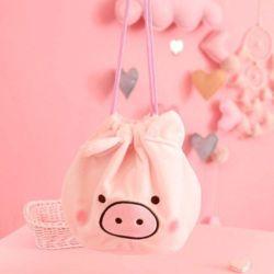 귀여운 돼지 복조리 화장품파우치 스트링파우치