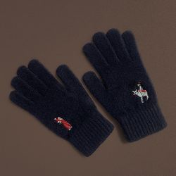 Christmas in joseon gloves (wool)(navy)
