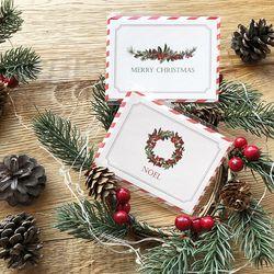 보타닉 크리스마스 카드