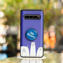 갤럭시S7엣지 (G935) OsoAzul 스마트 그립톡 카드 범퍼 케이스