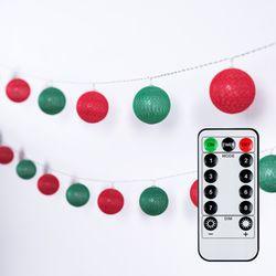 어반 LED 크리스마스 코튼볼 20구 USB형