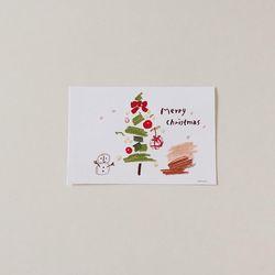 Chistmas tree postcard
