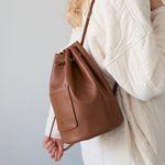 wearable cylinder bag (tan)