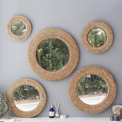 디자인 라탄 거울-원형(4호)
