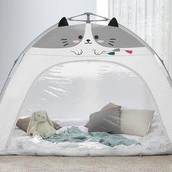따뜻한집 자동 난방텐트 하이캣 그레이 12인용(투명창