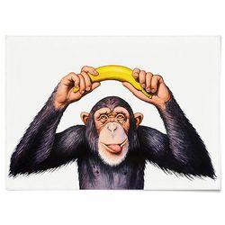중형 패브릭 포스터 F321 동물 과일 그림 액자 침팬지 바나나 B