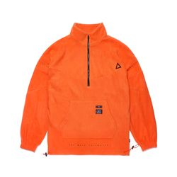 TRIANGLE FLEECE OVERSIZED ANORAK JACKET ORANGE