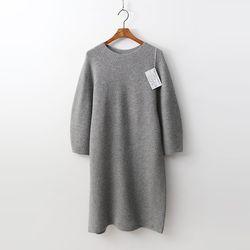 Laine Cashmere N Wool Puff Dress  - 9부소매