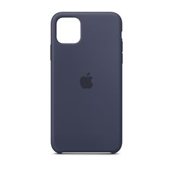 [정품]아이폰 11 Pro Max 실리콘 케이스 - 미드나이트블루