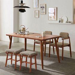 리치 6인용 원목 식탁테이블 1500세트 (의자2개  스툴2개포함)