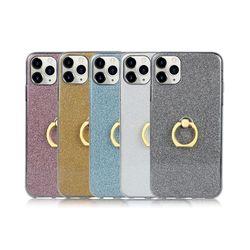 아이폰5S 스탠드 글리터 링 유니크 젤리 케이스 P337