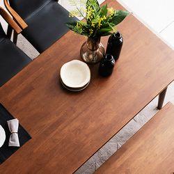 나스르 원목 6인 식탁 테이블