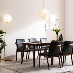 나스르 원목 식탁 의자