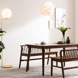 나스르 원목 2인 식탁 벤치 의자