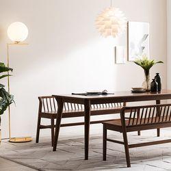 나스르 원목 3인 식탁 벤치 의자