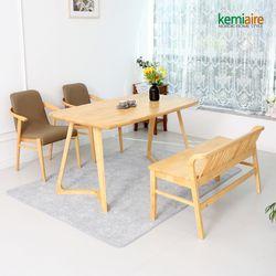 모리스 4인원목식탁세트(벤치의자) KEP-411