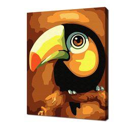 [명화그리기]2030 미니동물-큰부리 앵무새 14색 일러스트