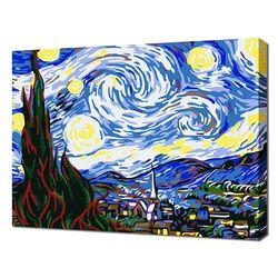[명화그리기]2030 미니명화-별이 빛나는 밤에 12색 풍경화