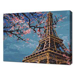 [명화그리기]3040 파리-봄의 에펠탑 18색 풍경화