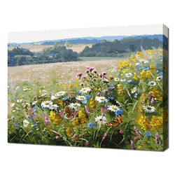 [명화그리기]4050 에이번리 마을-들꽃핀 언덕 28색 풍경화
