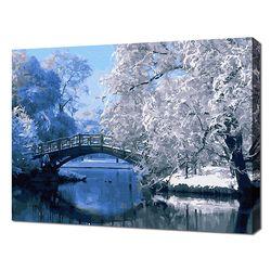 [명화그리기]4050 에이번리 마을-하얀겨울 풍경 22색 풍경화