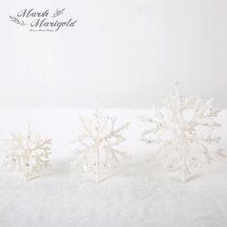 하얀 눈꽃 결정 오너먼트 14cm FM386-0490