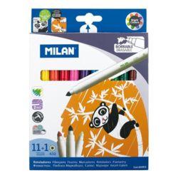 MILAN 밀란 수성 매직펜+지우개펜 12색 세트