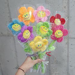 스마일꽃 한송이  1송이 꽃다발 8컬러
