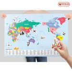 자석이 붙는 세계지도 (90x60) 세계여행-사회교구-여러나라